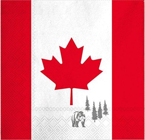 PARTY DISCOUNT Servietten Kanada 20 STK, 3 lagig 33x33 cm