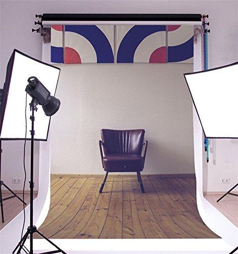 YongFoto 1x1,5m Vinyl Foto Hintergrund Weathered Stripe Holz Plat Weiße Wand Ledersofa Fotografie Hintergrund für Fotoshooting Portraitfotos Party Kinder Fotostudio Requisiten