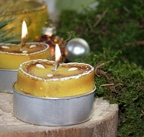 6er Set Teelicht Lebkuchen Herz Weihnachten für die Tisch Dekoration (Weihnachten Lebkuchen Dekoration)