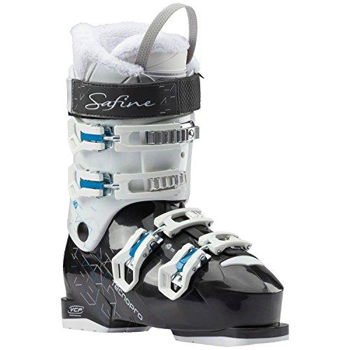 Tecno Pro Damen Ski Schuh Skischuh Safine Pearl 60/schwarz/weiß/blau, Größe:25.5