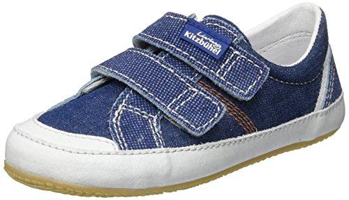 Living Kitzbühel Doppelklettschuh Jeans, Chaussons courts, non doublées mixte enfant