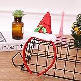 Yyzhx Coperchietto Natale Party Supplies di Punta Testa Archetto Fibbia Natale Regali di Natale Decorazioni di Natale