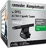 Rameder Komplettsatz, Dachträger WingBar EVO für OPEL Astra K Sports Tourer (137084-14870-1)