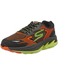 Skechers Men's Go Run Ultra R - Road Orange and Lime Mesh Running Shoes
