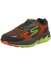 14ff71f4d4c Skechers Men s Go Run Ultra R - Road Orange and Lime Mesh Running Shoes