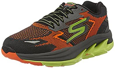 Skechers Men's Go Run Ultra R - Road Orange and Lime Multisport Training Shoes - 6 UK/India (39.5 EU) (7 US)