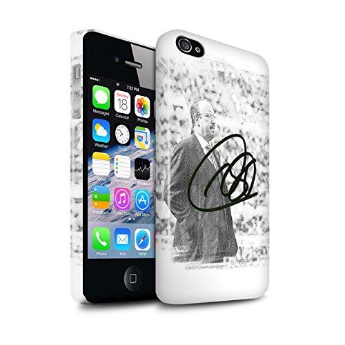 Offiziell Newcastle United FC Hülle / Glanz Snap-On Case für Apple iPhone 4/4S / Pack 8pcs Muster / NUFC Rafa Benítez Kollektion Autogramm
