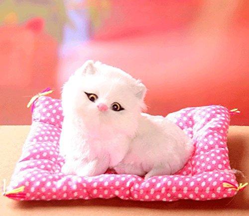 Handgefertigt Künstliche Elektronisches Haustier Katze, Abendmahl Süße Katze mit Sound Stofftier Weich Plüsch Simulation Katze Spielzeug Weihnachtsgeschenk