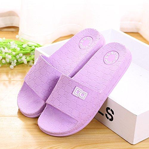 amanti delle pantofole a casa le pantofole, antiskid estate plastica spessa base,41 mei hong 40 viola