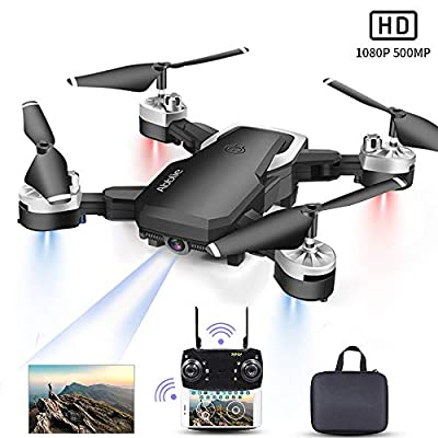 Abblie Drone With HD Camera, Mini Drone Upgrade 40 million pixels 1080P HD Camera FPV Live, Flight 20 Minutes/Altitude Hold/Headless Mode/3D Flips/One Key Return,Best Drone for Beginners (2019 NEW)