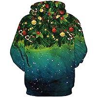 shan Los Hombres de otoño e Invierno Abrigo 3D Impresion Digital Christmas Sweater Ropa Hombre Uniforme de béisbol,L