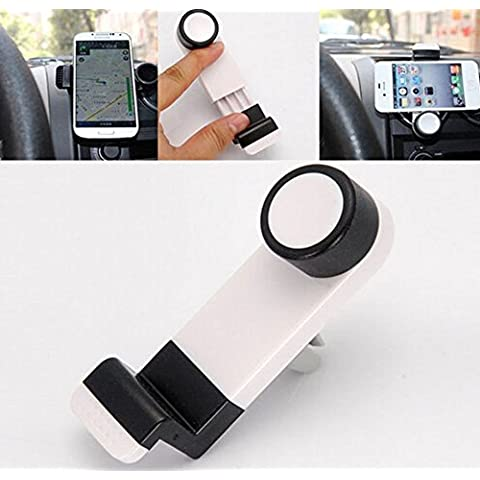 iMount Portable Car Air Vent Mount for Smartphones GPS iPhone - Black - works with iPhone, 3, 3GS, 4, 4S, 5, all HTC, HTC One S, V, X, XL, HTC Desire, C, HD, S, Z, HTC Sensation, XE, XL, HTC Wildfire, S, HTC 7 Pro, ChaCha, Incredible S, Radar, Trophy, Salsa, Rhyme, Legend, Mozart, Gratia, EVO 3D, Explorer, HD Mini, HD2, HD7, HD7S, all other HTC, Samsung Galaxy S, S2, S3, S4, S Advance, Ace, Ace 2, Note, Note
