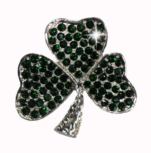 Irish Shamrock Strass (Green St Patricks Day Irish Shamrock Clover Leaf Brooch Bling Rhinestone Crystal Gems by CrystalsRus)