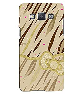 Citydreamz Golden Brown Animal Stripes/Pink Hearts/Glitters Hard Polycarbonate Designer Back Case Cover For Samsung Galaxy J2 Pro
