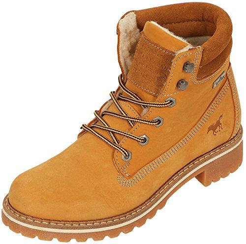 Mustang Shoes Damen Schuhe Wildleder Booties 2837-604-66 wasserabweisend camel 38
