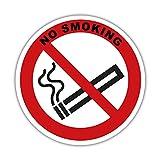 Rauchverbot - Aufkleber - mit Text - Rauchen verboten - Nichtraucher 5cm Hinweisschild