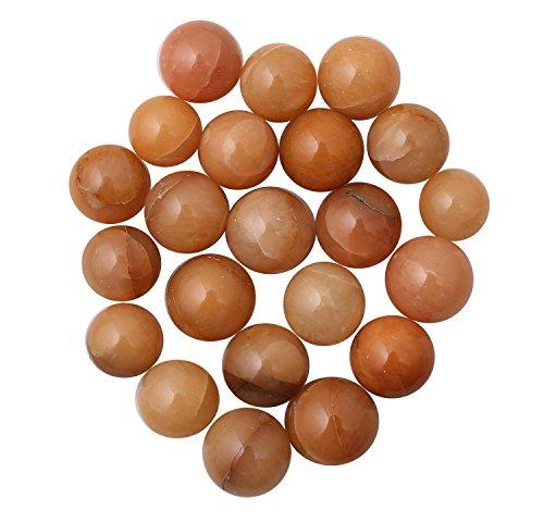 Prisha orange Aventurin Kugel Steinen für Mehrzweck-22Teile (Orange Farbige Kostüme)