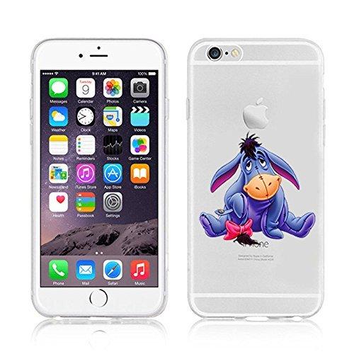Disney Winnie The Pooh & Friends Transparent TPU Soft Case For Apple iPhone 7 Plus TIGGER 1 EEYORE