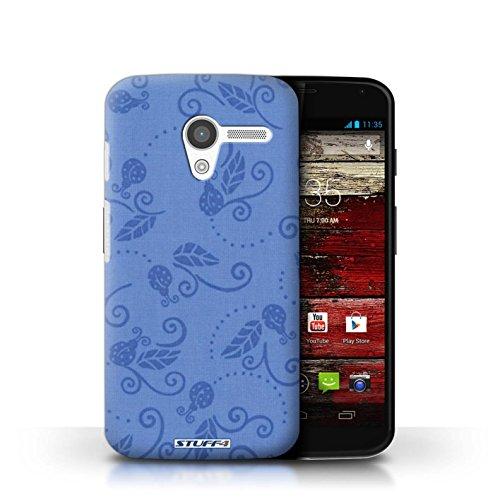 Kobalt® Imprimé Etui / Coque pour Motorola MOTO X / Gris conception / Série Motif Coccinelle Bleu