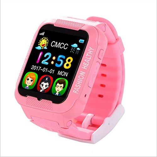 Human K3 Wasserdichte Intelligente Uhr Kinder Erwachsene Positionierung Telefon Uhr GPS-Positionsmonitor,Pink