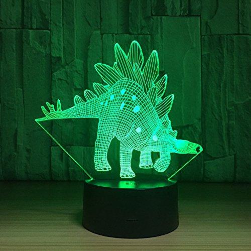 Pony 3D LED Dinosaurier Lampe 7 Farben Ändern LED Hund Bär USB Octopus Nachtlicht Innen Atmosphäre Lampe Für Kinder Spielzeug und Neue Jahr Geschenke Großer Drache Eine Größe -