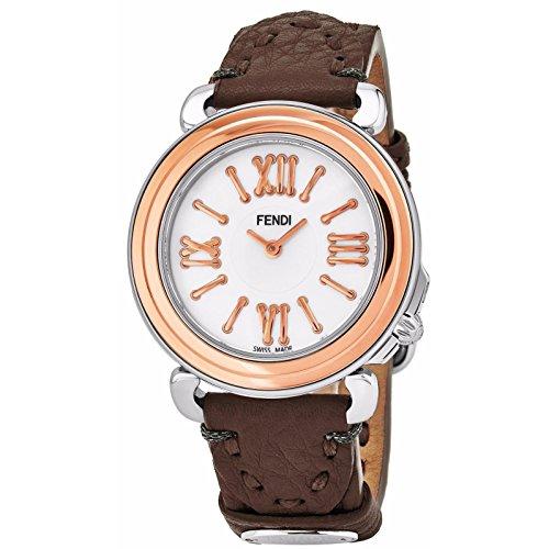 Fendi Women's Selleria 35mm Leather Band Swiss Quartz Watch F8012345H0.SSE6