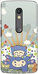 The Racoon Grip printed designer hard back mobile phone case cover for Motorola Moto X Play. (Monster Lo)