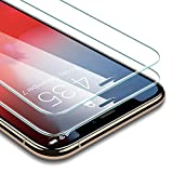 ESR Verre Trempé pour iPhone X/XS [Lot de 2] [Gabarit de Pose Inclu] [Taille Réduite conçue pour Les Coques] [Garantie à Vie], Film Protection Écran, Vitre Transparente pour Apple iPhone X/XS