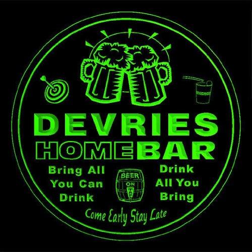 4x-ccq11303-g-devries-family-name-home-bar-pub-beer-club-gift-3d-coasters