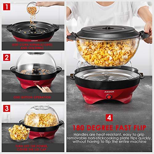 Aicook – Popcornmaschine – mit Heizplatte - 6