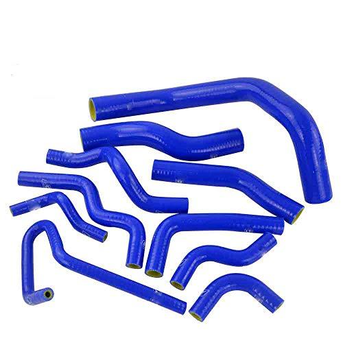 Turbo Manguera de silicona Kit 2 Unidades Intercooler Radiador Blue Tube Fit Para Nissan Silvia 180SX S13 S14 SR20DET