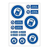 Zeichenplatte A4 Profi Fingerpulsoximeter Aufkleber Sticker Folie C98 obligatorisch?