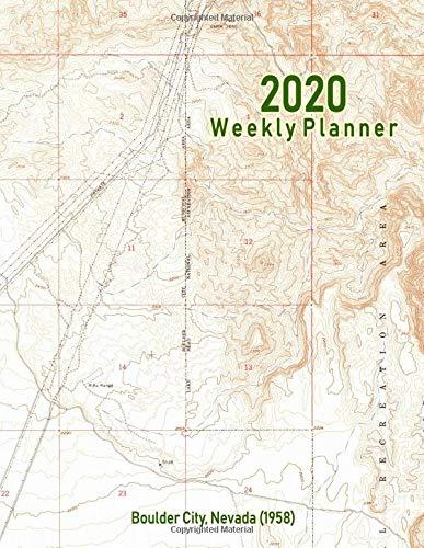 2020 Weekly Planner: Boulder City, Nevada (1958): Vintage Topo Map Cover Boulder Handy