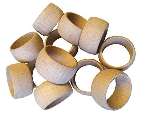 Serviettenringe aus Holz, 10 Stück ✓ Servietten-Ringe aus rohen, naturbelassenen Holz ✓ Holzringe ca. 25mm / 2,5 cm breit | Durchmesser: 35 mm / 3,5cm ✓ schönes Servietten-Zubehör zum selber gestalten ✓ ideal zum Beschriften / Basteln von individuellen Serviettenringe ✓ Serviettenringe-Set für Tischdeko | trendmarkt24 - 25970