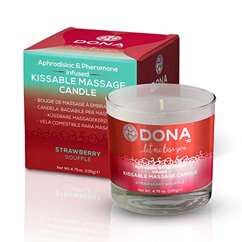 Massage-soufflé (Dona Kissable Massage Kerze Erdbeer-Soufflé Aphrodisiakum & Pheromon-Body-Massage)