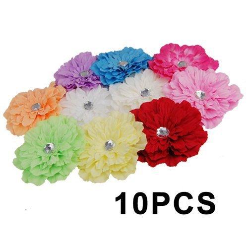 SODIAL(R) 10 X Belle Gerbera Marguerite Fleur Clip pour Bebes Filles Enfant Broche Cheveux Decoration