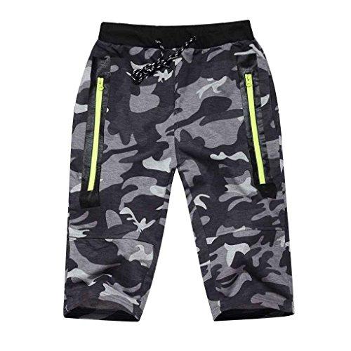 Minzhi M?nner Sommer Camouflage Trainingsshorts Jogging Fitness Jogger-Verursachende Kurze Hosen d¨¹nne Sport-Hose