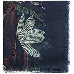 Parfois - Pañuelo Estampado Botanic - Mujeres - Tallas L - Azul