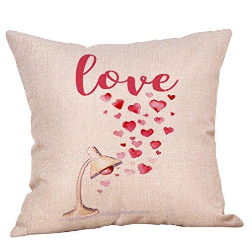 (Han Shi Valentinstag Kopfkissen, Sweet Love Überwurf Quadratischer Kissenbezug Large a)