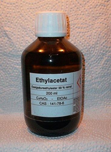 200 ml Ethylacetat,99% Essigsäureethylester (ESTO),für Chromatographie,Lösungsmittel