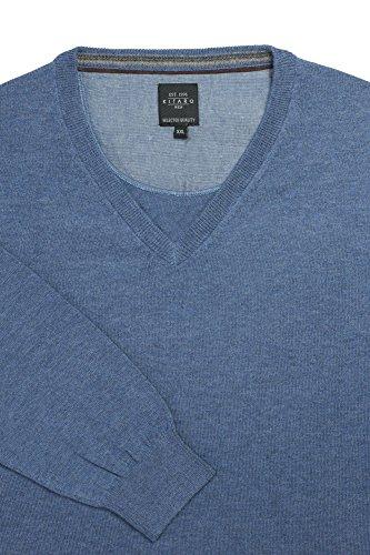 Kitaro Herren Pullover V-Kragen Buenos Aires - City Jeansblau