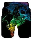Idgreatim Männer 3D Diamant Print Sommer Strand Hosen Shorts Hose Bottoms Jersey mit Einstellbare Kordelzug XXXL