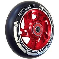 1 x Team Dogz 100mm Swirl Alloy Core & Black PU Kids Stunt Scooter Single Replacement Wheel Fits MGP, Blunt, Grit, Slamm