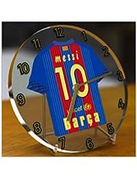 Reloj de sobremesa, diseño de camiseta de fútbol de La Ligaespañola, personalización gratuita con los colores de cualquier equipo, cualquier número y cualquier nombre, mujer hombre Infantil, FC Barcelona