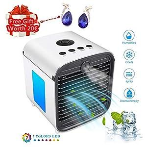 Air Cooler Leakproof LuftküHler Mobile KlimageräTe Klimaanlage Ventilator Cool Air Ventilator, Luftbefeuchter und Luftreiniger für BüRo, Hotel, KüChe