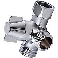 KES PV8 alcachofa de ducha grifo mezclador de ducha y alcachofa de ducha brazo de 3 vías desviador latón, cromo pulido