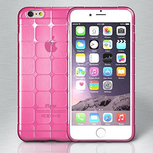 iPhone 6S Hülle Silikon Transparent Schwarz [OneFlow Cube Back-Cover] Ultra-Slim Silikonhülle Dünn Handy-Hülle für iPhone 6/6S Case TPU Schutzhülle BERRY-FUCHSIA
