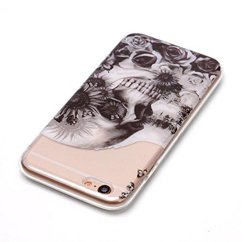 Meet de iPhone 5 / 5S / SE Coque Antid¨¦rapant Transparent TPU Silicone Gel Housse ?tui Protecteur Cover Case Souple Ultra Mince pour iPhone 5 / 5S / SE - Papillon color¨¦ hibou