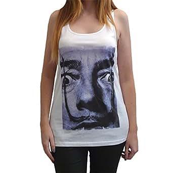 Salvador Dali T-Shirt T-shirt Femme photo de star - Blanc, S, t shirt femme