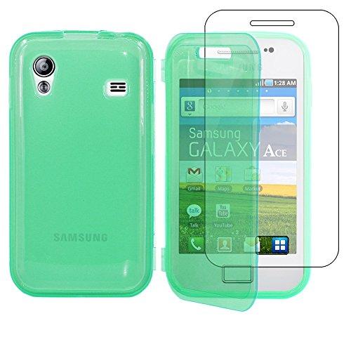 ebestStar - Compatibile Cover Samsung Ace Galaxy S5839i, S5830, S5830i Custodia Silicone Portafoglio Gel TPU, Protezione Anti Shock AntiGraffio Antiscivolo, Blu [Apparecchio: 112.4x59.9x11.5mm 3.5'']